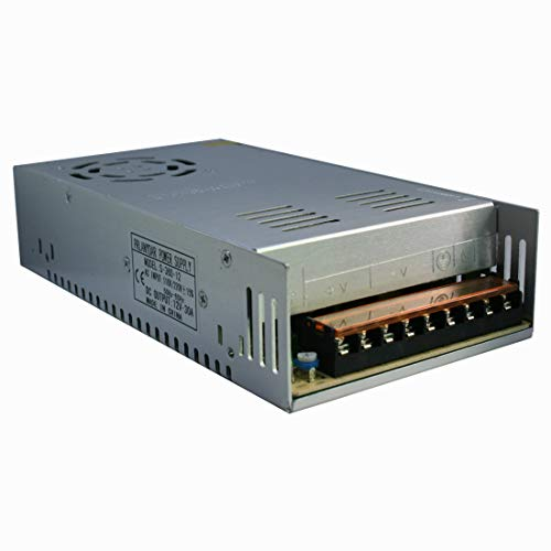 360W AC 110/220V to DC 12V 30A Universal Volt Transformer Switch Power Supply Converter for LED Strip Light CCTV Radio Computer Project