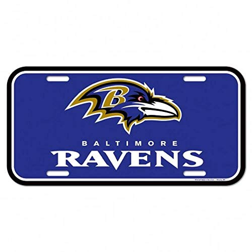 Baltimore Ravens License Plate - WinCraft NFL Baltimore Ravens License Plate, Team Color, One Size