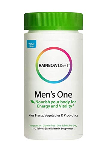 Rainbow Light Men's One Multivitamin, Once-Daily Nutritional Support for Men's Health, 150 Count (Pack of 1)