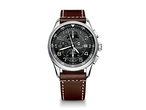 Swiss Military Air (Swiss Army Air Boss 241597 42mm Automatic Stainless Steel Case Brown Calfskin Synthetic Sapphire Men's Watch)