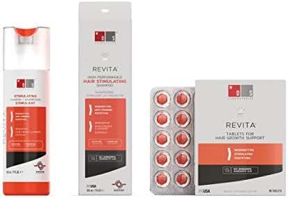 Hair Thinning & Hair Regrowth Kit w/Revita Hair Stimulating Shampoo and Revita Hair Growth Supplement Tablets for Men & Women (All Types of Hair Loss)