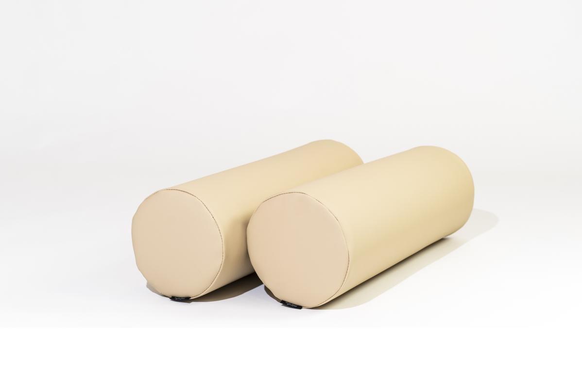 MiPuf - Respaldo Rulos para Colchon de Palet (2 uds)- Tamaño 60x20 - Tejido Nautico para Exterior - Color Crema: Amazon.es: Hogar