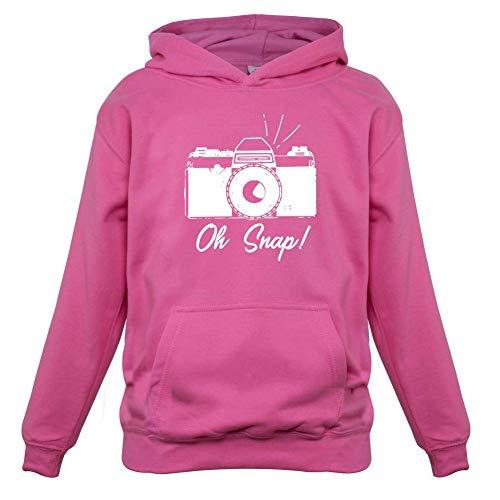 Oh Snap - Kids Hoodie - Pink - L (7-8 Years) (Canon Lens Hoodie)