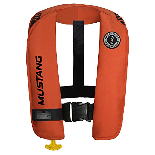 (Mustang Survival MIT 100 Inflatable Automatic PFD w/Reflective Tape - Orange MD2016/T1)