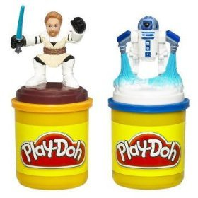 (Play-Doh Star Wars The Clone Wars Stampers with Obi-Wan & R2-D2)