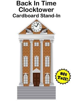 Dino Rentos Prop Studios Back in Time Clocktower Cardboard Cutout Standup Prop