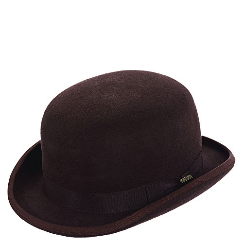 Scala Classic Hat (Scala Classico Men's Wool Felt Bowler Hat, Chocolate, L)