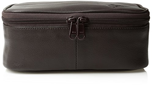 Dopp Men's Travel Express Mini Top Zip Travek Kit-Leather, Brown