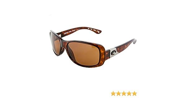 34d197d918dcb Amazon.com  Costa Del Mar Tippet Polarized Sunglasses - Costa 580  Polycarbonate Lens - Women s Tortoise Amber