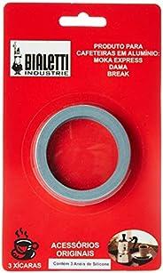 Cartela com 3 Borracha 3-4 Xicaras Bialetti