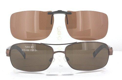 KIRKLAND-SIGNATURE IRVINE-576986-64X16 POLARIZED CLIP-ON SUNGLASSES (Frame NOT - Sunglasses Irvine