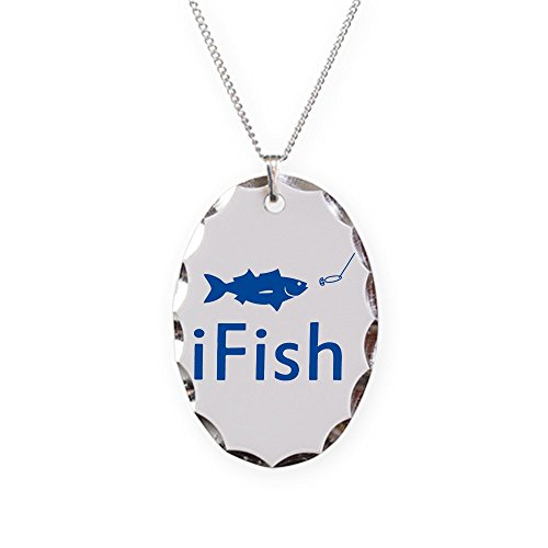 Royal Lion Necklace Oval Charm iFish Fishing Fisherman