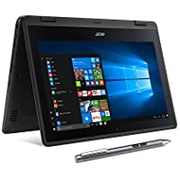 Acer SP111-31N-C4UG Spin 1, 11.6 Full HD Touch, 2 in 1 Laptop, Celeron N3350, 4GB DDR3L, 32GB Storage, Office 365, Stylus, Obsidian Black