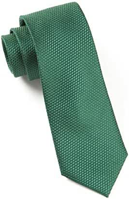 The Tie Bar 100% Silk Hunter Green Solid Textured Grenafaux 2.5 Inch Tie