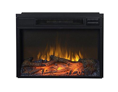 """Flamelux - 24"""" Wide Firebox Insert - Black"""