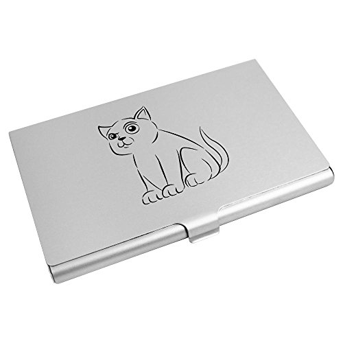 Credit Cat' 'Curious Business Card Card Holder Wallet Azeeda CH00002546 A4gwq7