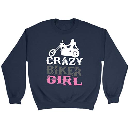 Crazy Biker Girl Cute Unique Funny Harley Motorcycle Rider Gift Ideas Sweater -