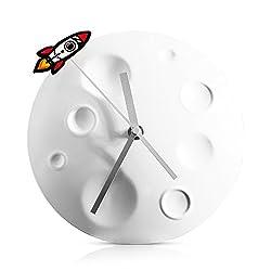 Suck UK Rocket Moon Wall Clock