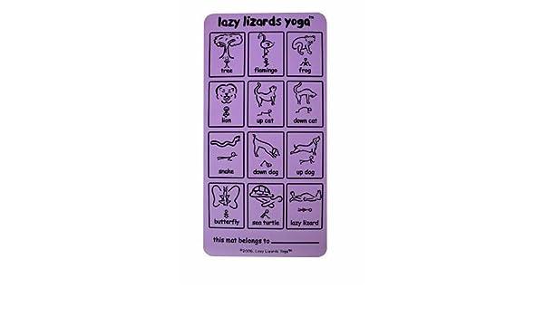 Amazon.com : Lazy Lizards Yoga Mat for Kids & DVD, Lavender ...