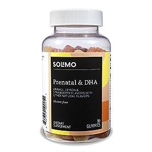 Amazon Brand – Solimo Prenatal Vitamins & DHA, 90 Gummies, 45-Day Supply