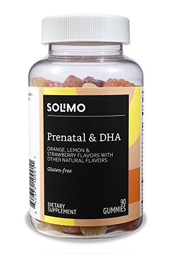 Amazon Brand - Solimo Prenatal Vitamins & DHA, 90 Gummies, 45-Day Supply