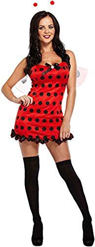 Mesdames adulte déguisement sexy deluxe Coccinelle pour femme Lady Bug Rouge & Noir