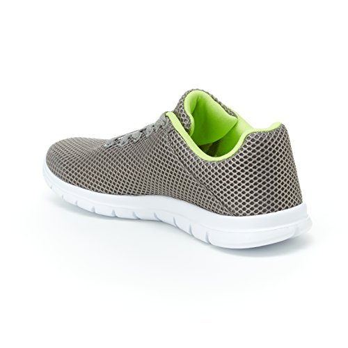 Up Shoe Foam Comfort Harborsides Sneakers Stacie Athletic Lace � Grey Mesh Memory Insole nqAY4q8