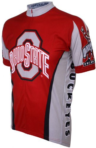 - NCAA Ohio State Cycling Jersey,X-Large(red/grey