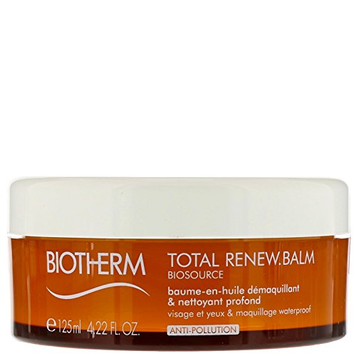 Price comparison product image Biotherm Biosource Total Renew Balm-to-Oil Deep Cleanser for Face Waterproof Make-up, 4.22 Ounce