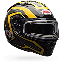 Bell Qualifier Reflective Yellow Snowmobile Helmet with Electric Shield - Large