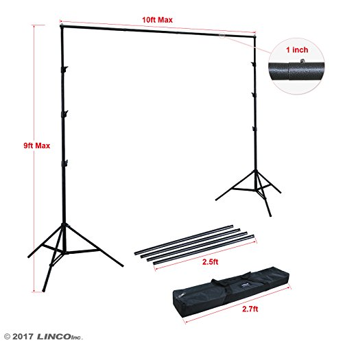Linco Lincostore 9x10 ft Photography Photo Backdrop Stand Background Support System Kit 4154-4236 ()