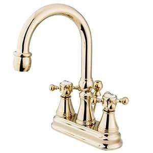 Kingston Brass KS2612BX 4 Inch Centerset Lavatory Faucet Polished Brass To