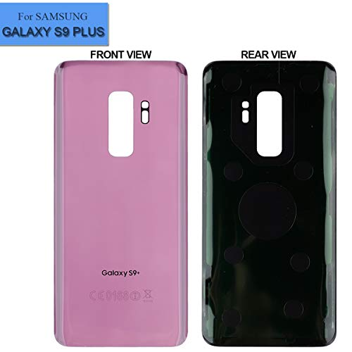 Replacement Battery Back Glass Cover Compatible with Samsung Galaxy S9 Plus G965 All Modles Battery Door Back Cover Purple