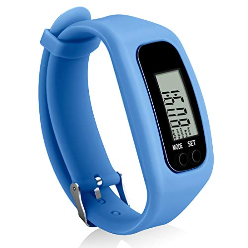 Bomxy Fitness Tracker Watch, Simply Operation Walking Running Pedometer with Calorie Burning and Steps Counting (Blue) - Walk Pedometer
