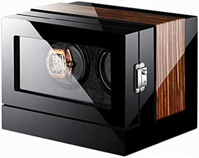 LSRRYD ワインディングマシーン 腕時計自動巻き器 LCDタッチディスプレイウォッチワインダー 2本巻き上げLEDライト付き 超静音 高級