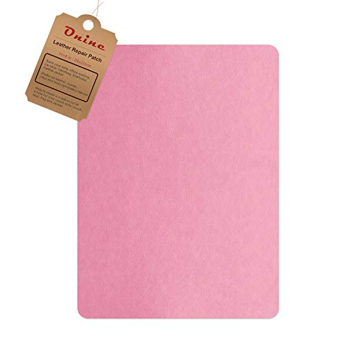 Leather Repair Patch,Self-Adhesive Couch Patch,Multicolor Available Anti Scratch Leather 8X11 Inch Peel and Stick for Sofas, car Seats Hand Bags Jackets (Pink)