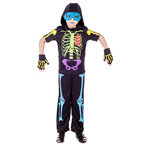 Scary Child Neon Costumes - fun shack Kids Neon Skeleton Costume