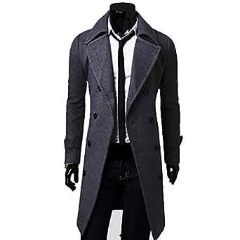 Bejoin Autumn Winter Trench Coat Men Cool Mens Long Coat