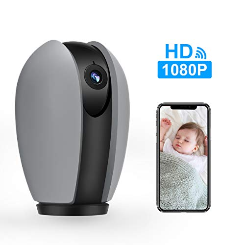 MECO WiFi IP Camera 1080P Nanny Camera Home Security Camera 2.4G Wireless Indoor CCTV with Pan/Tilt/Zoom, Night Vision, Sound/Motion Detection, Baby Pet Elder Monitor - Cloud Service Available