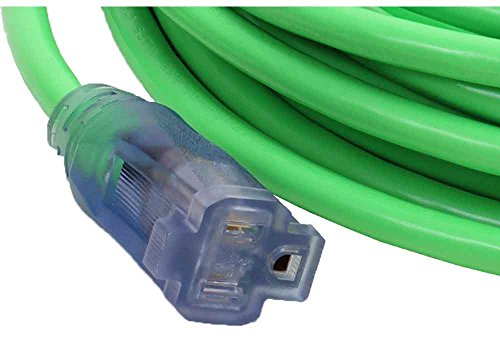 100-Foot 12/3 Green Cold Weather Extension Cord with Power & Ground Check Lights - Your Name on Cord by Subzero (Image #2)