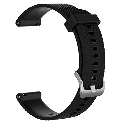 ZSZCXD Band for Garmin Vivoactive 3, Silicone Replacement WatchBand Strap Band Wristband for Garmin Vivoactive 3,Garmin Vivomove and Garmin Vivomove HR (Black, Large)