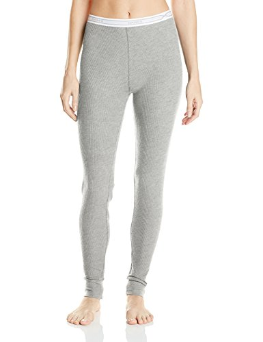 Hanes Women's X-Temp Thermal Underwear Bottoms, Heather Grey, (Plus Size Thermal Underwear)