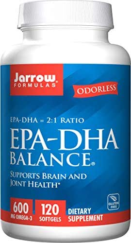 Jarrow Formulas EPA-DHA Balance, Boosts Brain Function, 600 mg Omega-3, 120 Caps