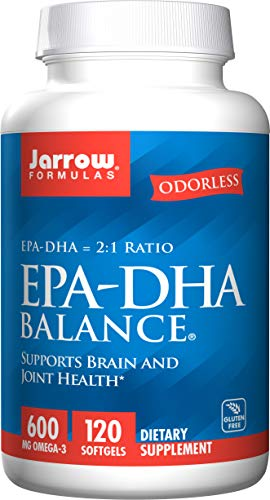 Jarrow Formulas EPA-DHA Balance, Boosts Brain Function, 600 mg Omega-3, 120 Caps
