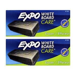 EXPO Dry Erase Board Eraser, Soft Pile, 5 1/8 Width x 1 1/4 Height 12 PK (Easel Doodle Flip Desk)