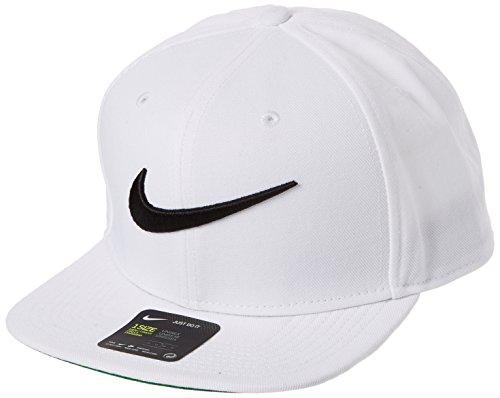 (NIKE Unisex Pro Cap Swoosh Classic Hat, White/Pine Green/Black/Black, Misc, One)