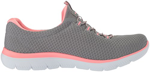 Grau Sneaker Damen GYLP Skechers Slipper Dynamight Break Grau 12991 Rosa Pink Through XfqY8