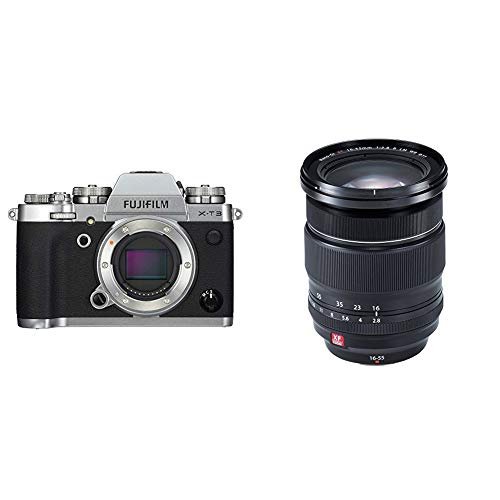 Fujifilm X-T3 Mirrorless Digital Camera (Body Only) - Silver with Fujinon XF16-55mmF2.8 R LM WR