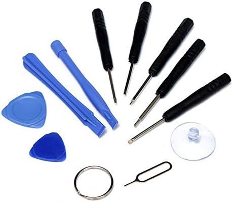 Cewaal Juego de Herramientas de reparación Universal de 11 Piezas, Destornillador + Palanca, para iPhone 7 7 Plus 6s 6s más 6 6 más 5s 5c 5 SE 4 4s ...