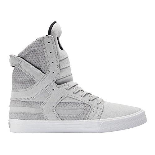 Supra SKYTOP II - zapatillas deportivas altas de cuero Unisex adulto LIGHT GREY-WHT